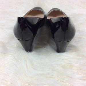 940991ed49f Nine West Shoes - Nine West Jessa Black Patent Wedges 9.5M